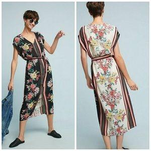 ANTHROPOLOGIE dRA Sanne Floral Midi Dress S NWT